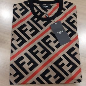 NWT Fendi Men's Casual Cotton T-Shirt